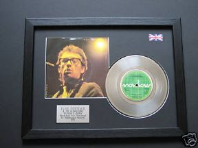 "ELVIS COSTELLO - Oliver's Army 7"" Platinum Disc with cover"